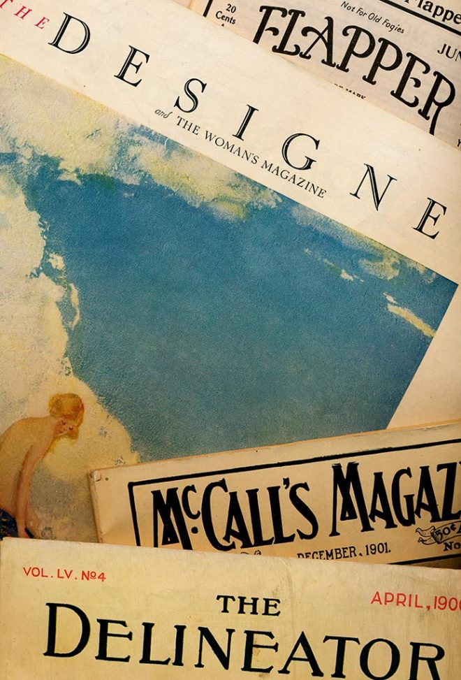 Intact antique and vintage magazines are becoming increasingly difficult to find.  Photograph by Julia Henri.